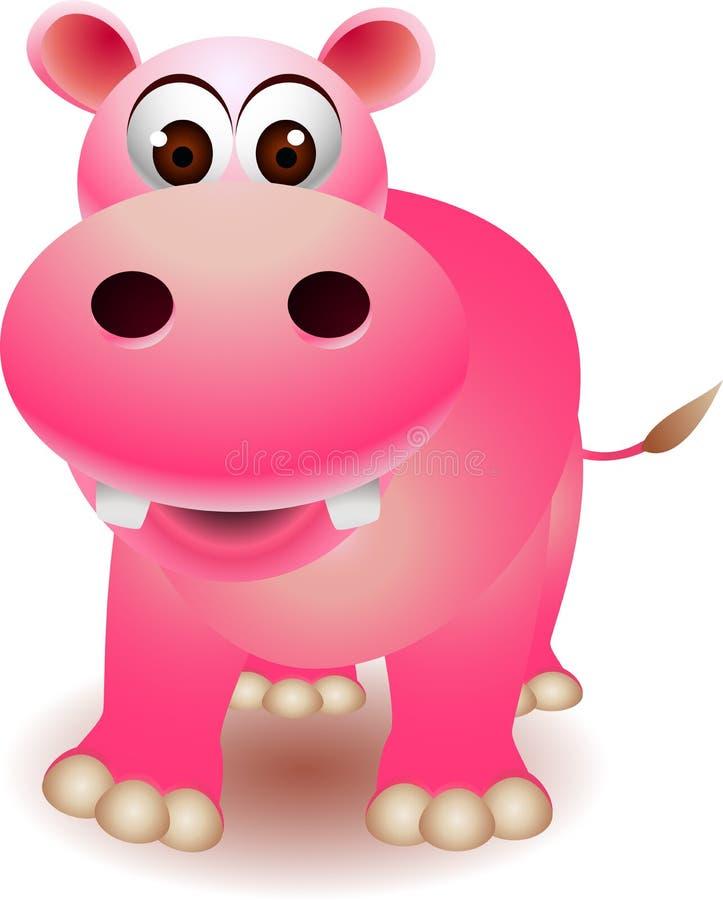 Leuk hippobeeldverhaal stock illustratie