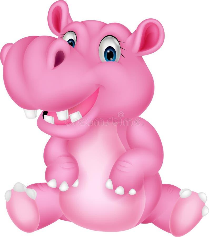 Leuk hippobeeldverhaal vector illustratie