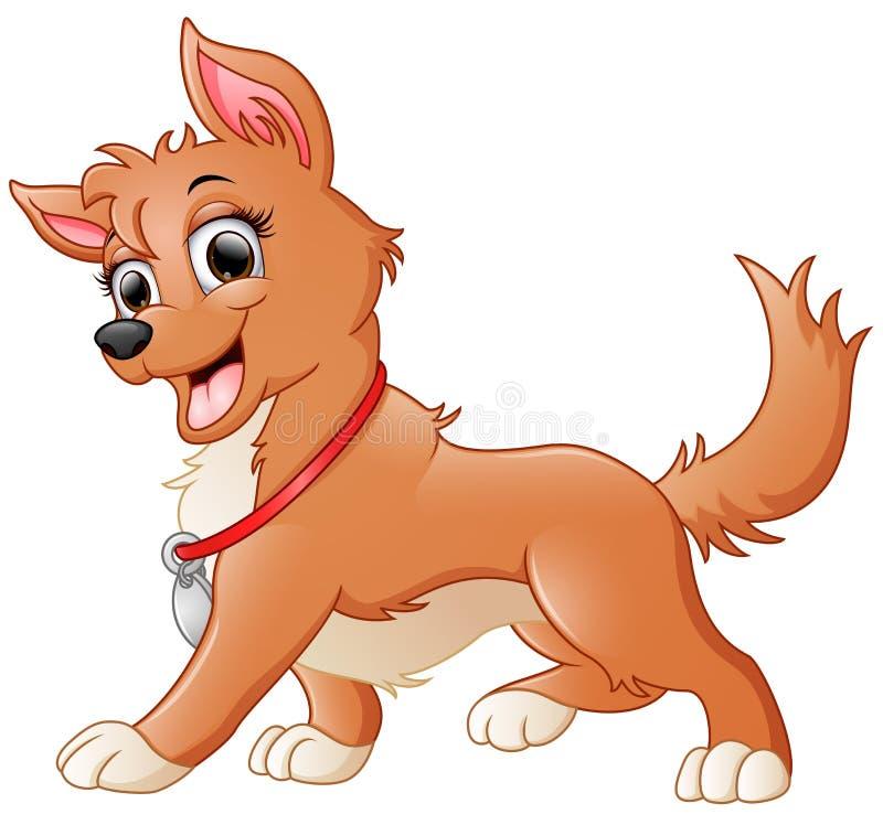 Leuk hondbeeldverhaal stock illustratie