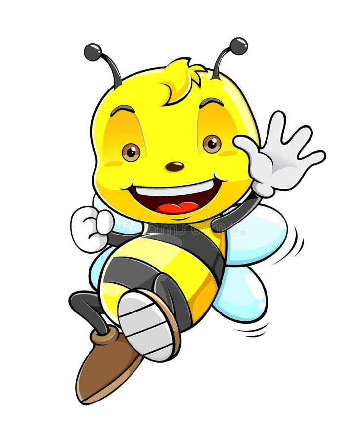 Leuk Honey Bee vector illustratie