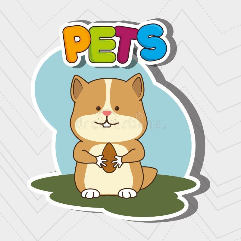 leuk huisdierenontwerp royalty-vrije illustratie
