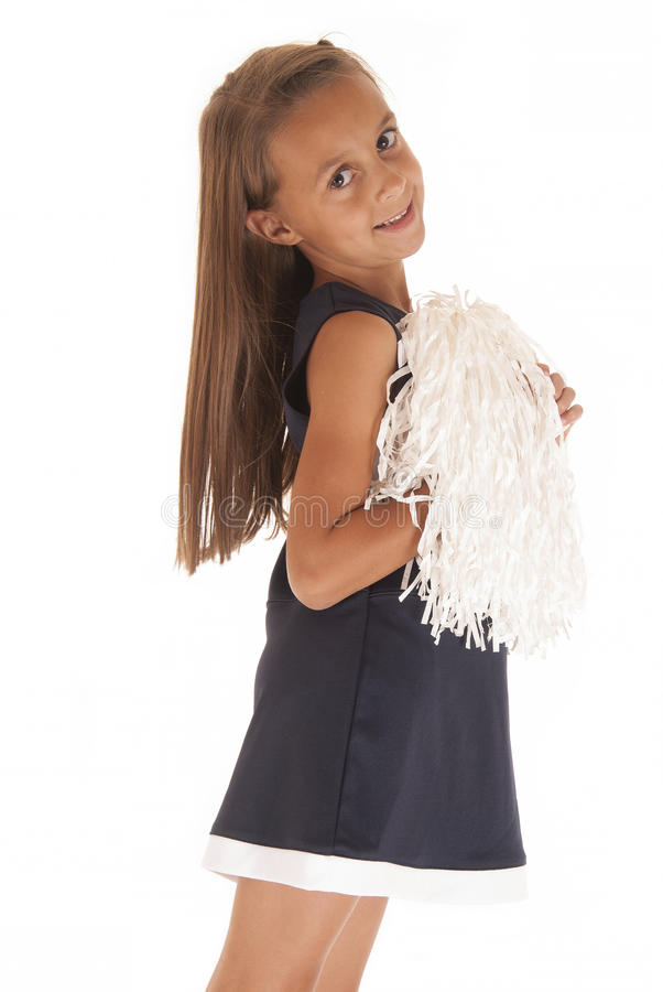Leuk jong donkerbruin meisje in prinsesuitrusting het glimlachen royalty-vrije stock fotografie