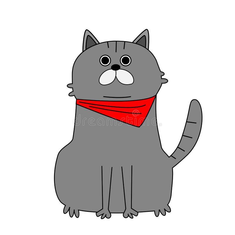 Leuk kattenbeeldverhaal royalty-vrije illustratie