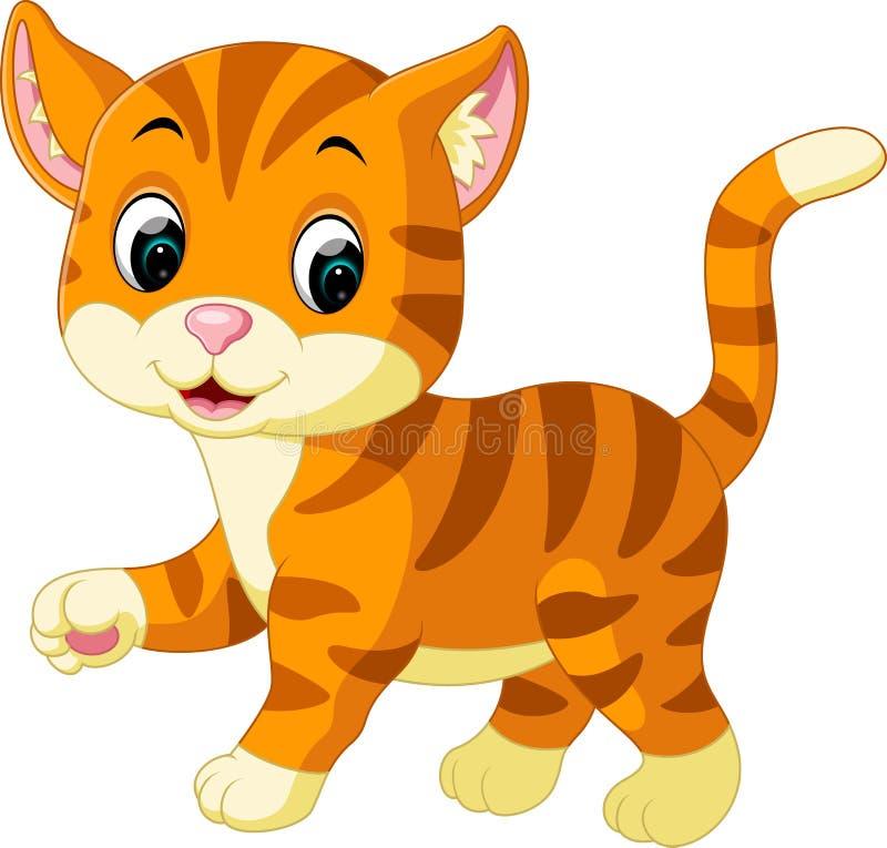 Leuk kattenbeeldverhaal stock illustratie