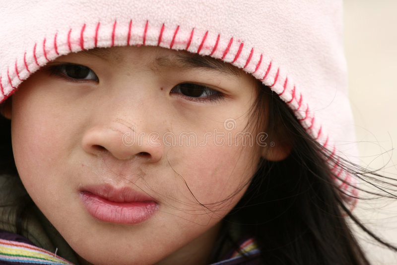 Leuk kind met hoed stock afbeeldingen