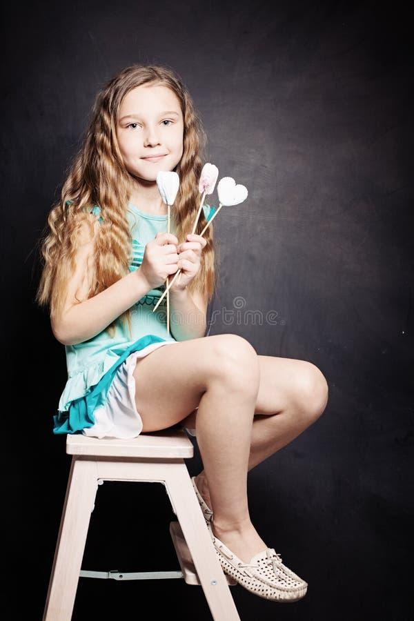 Leuk kindmeisje Portret royalty-vrije stock fotografie