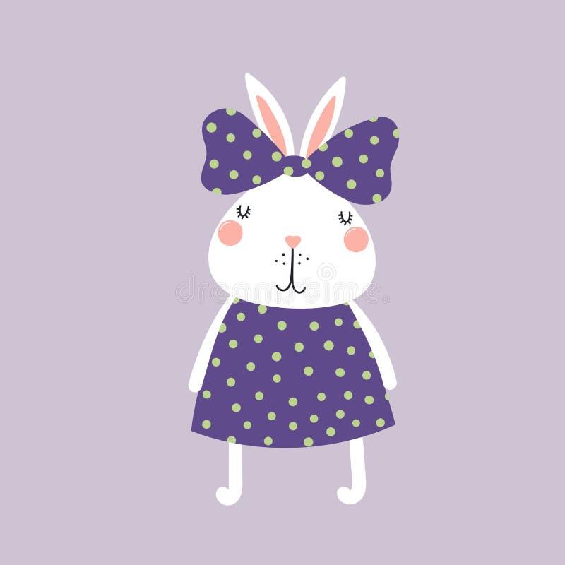Leuk konijntjesmeisje stock illustratie