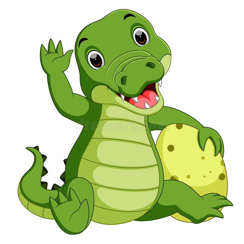 Leuk krokodilbeeldverhaal royalty-vrije illustratie
