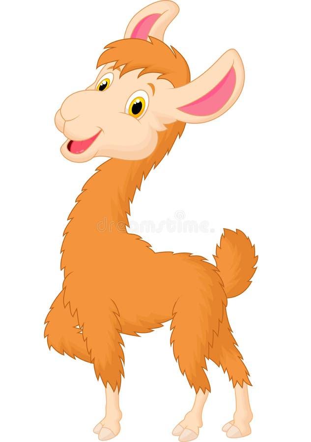 Leuk lamabeeldverhaal vector illustratie