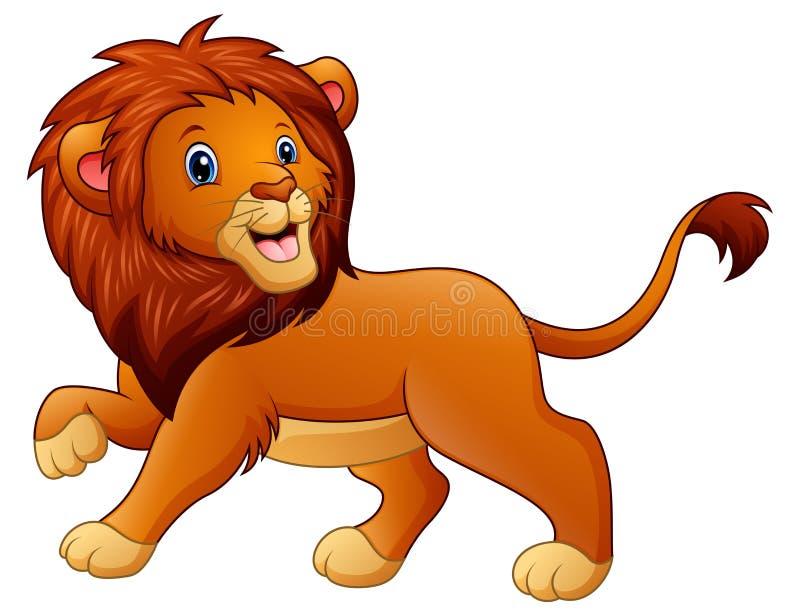 Leuk leeuwbeeldverhaal stock illustratie