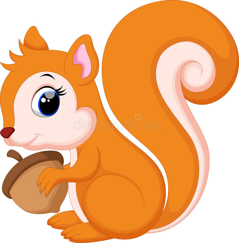 Leuk Leuk eekhoornbeeldverhaal vector illustratie