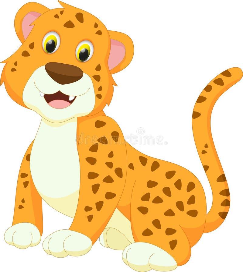 Leuk luipaardbeeldverhaal royalty-vrije illustratie
