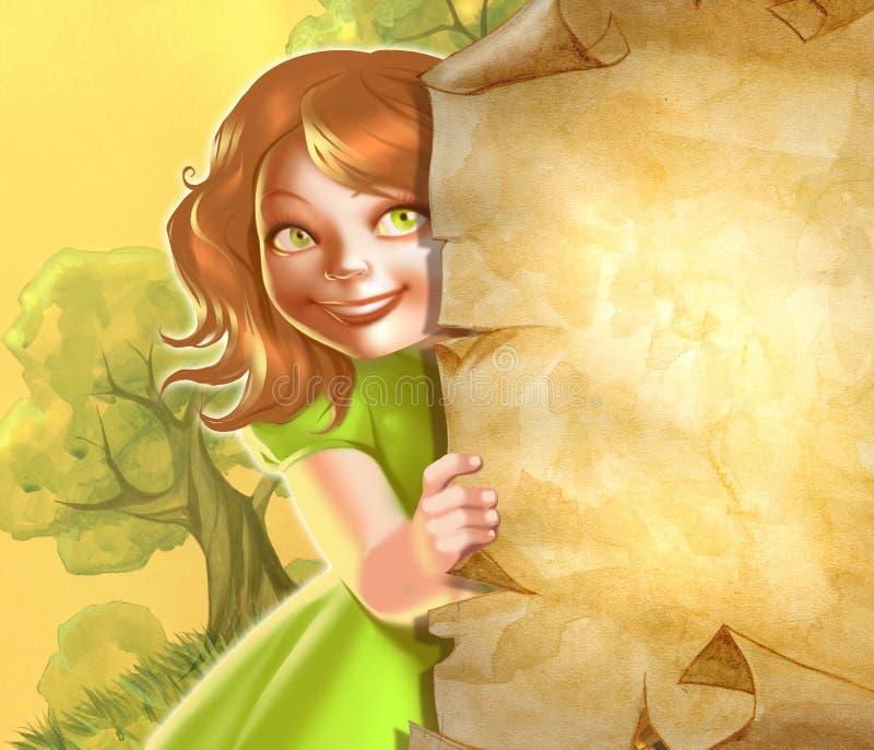 Leuk meisje royalty-vrije illustratie