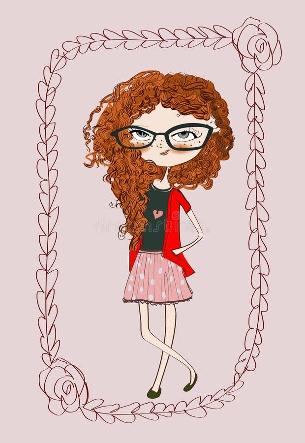 Leuk meisje vector illustratie