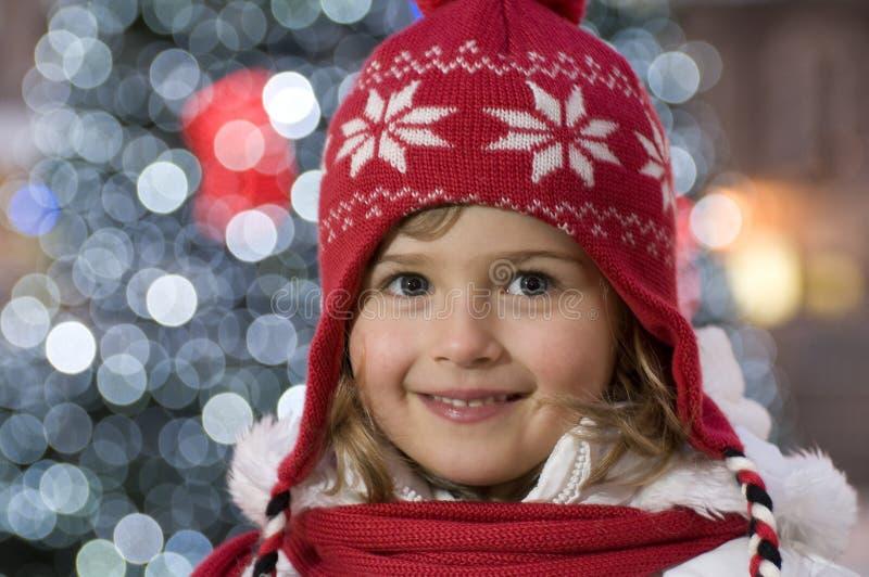Leuk meisje bij Kerstmis royalty-vrije stock foto
