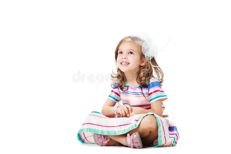 Leuk meisje op de vloer royalty-vrije stock foto