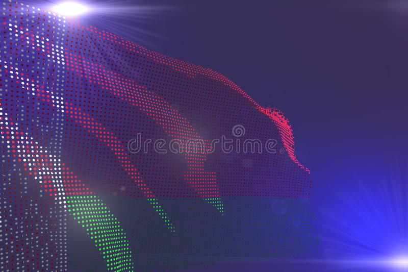 Leuk modern helder beeld van Witrussische die vlag van punten wordt gemaakt die op purple met ruimte voor inhoud golven - om het  royalty-vrije illustratie