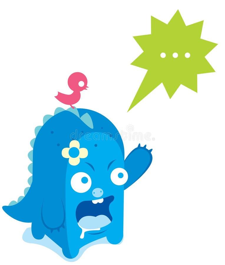 Leuk monster vector illustratie