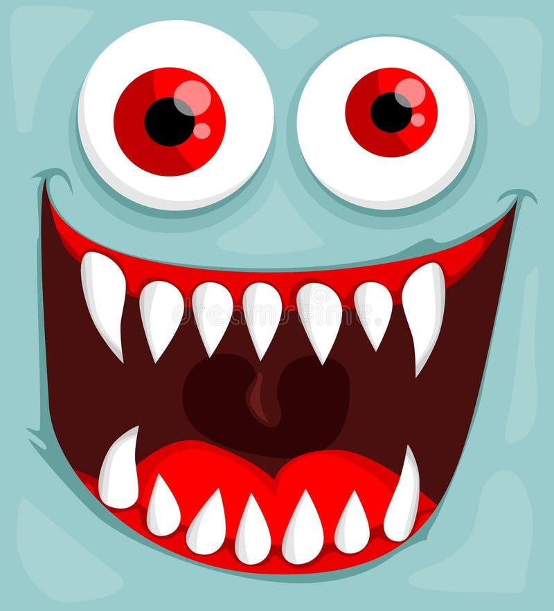 Leuk monstergezicht royalty-vrije illustratie