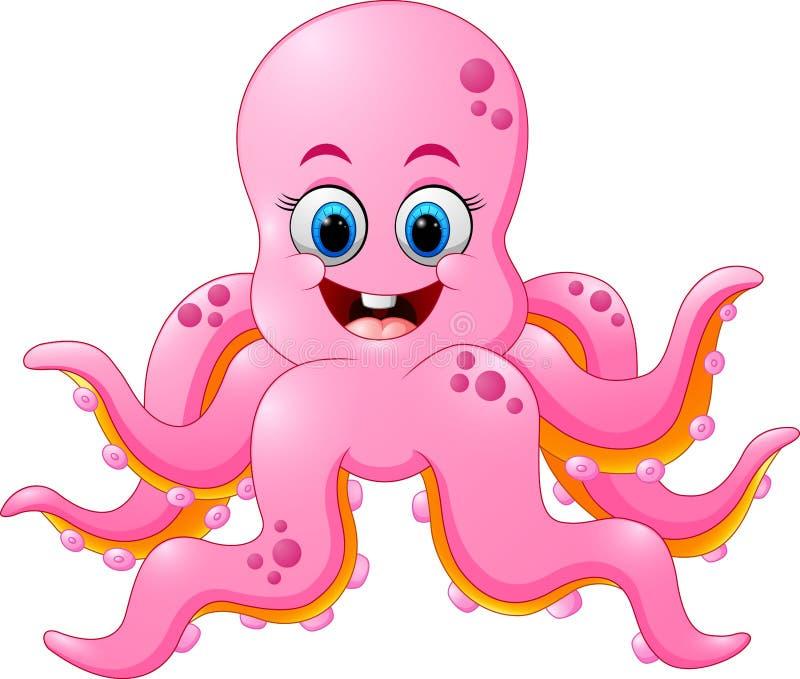 Leuk octopusbeeldverhaal vector illustratie