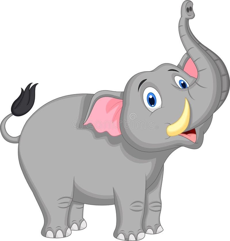 Leuk olifantsbeeldverhaal royalty-vrije illustratie