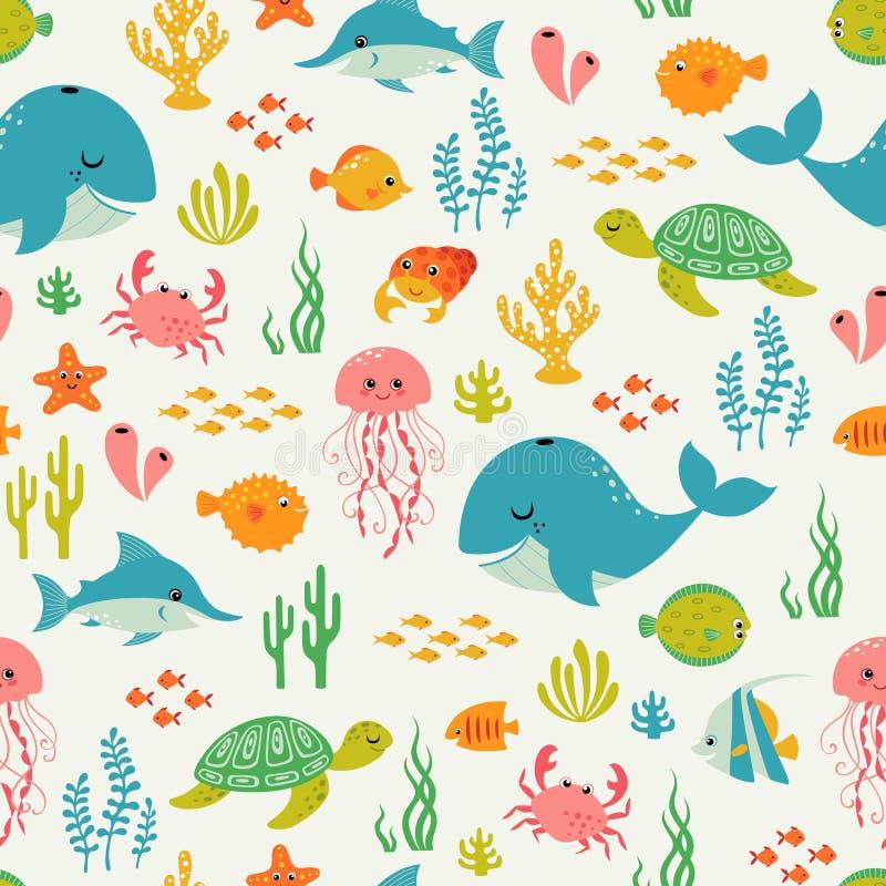 Leuk onderwater het levenspatroon vector illustratie