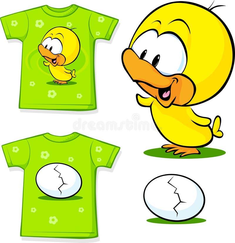 Leuk overhemd met ei - vectorillustratie royalty-vrije illustratie