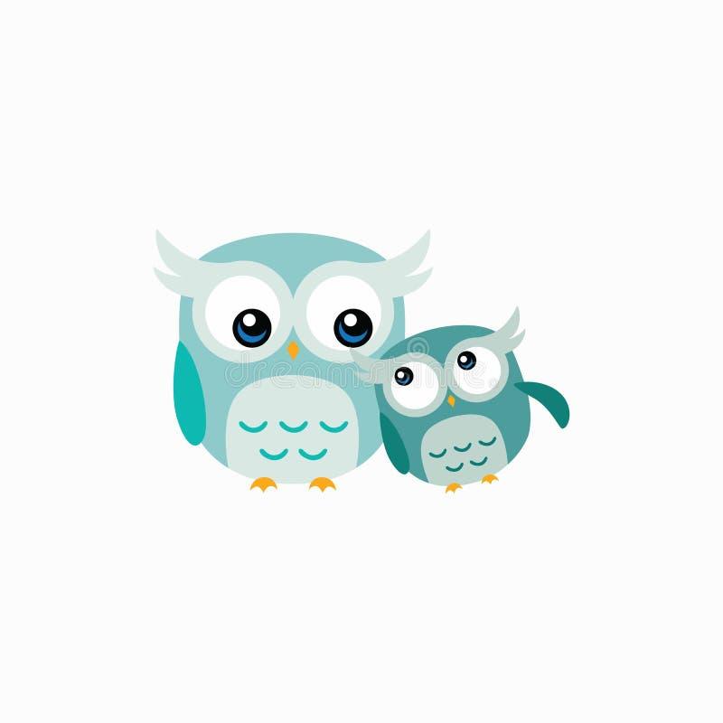 Leuk Owl Vector Design Illustration stock illustratie
