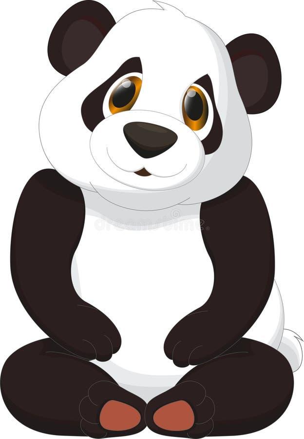 Leuk pandabeeldverhaal royalty-vrije illustratie
