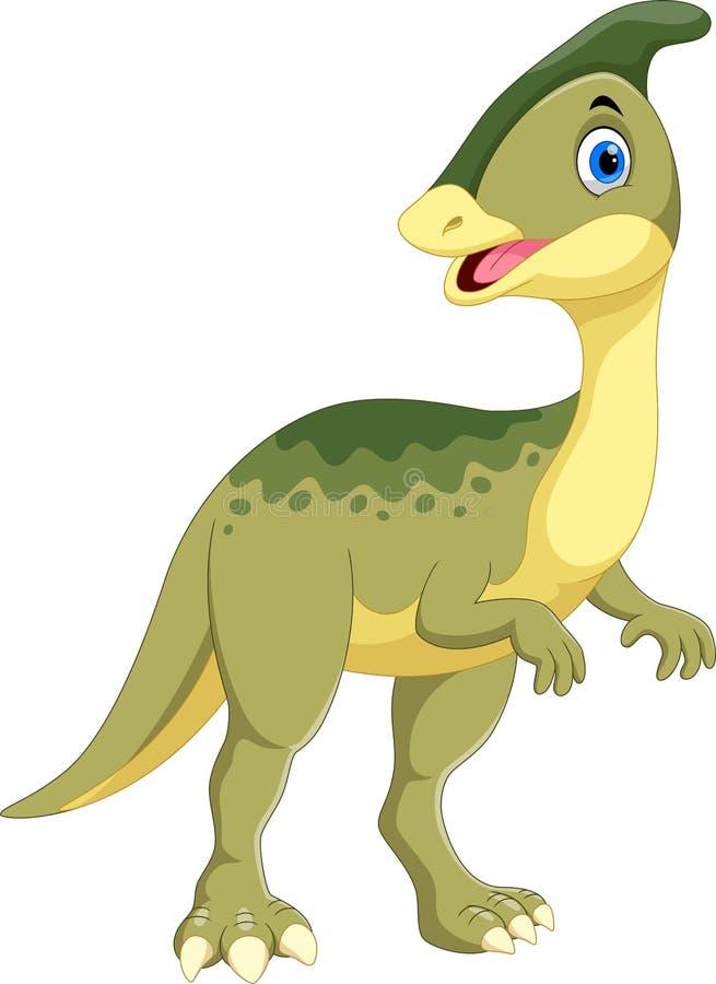 Leuk Parasaurolophus-dinosaurusbeeldverhaal stock illustratie