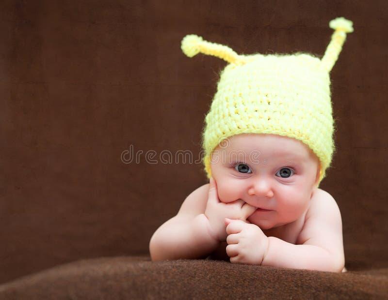 Leuk pasgeboren portret stock fotografie