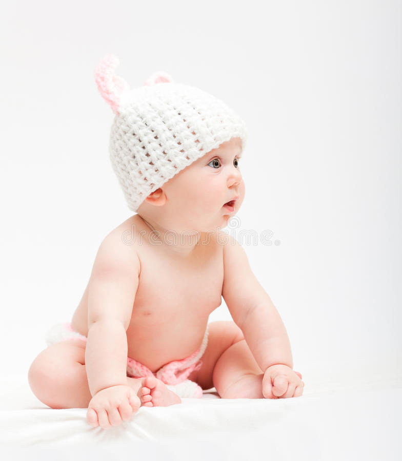 Leuk pasgeboren portret stock foto