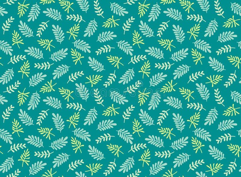 Leuk patroon met blad vector illustratie