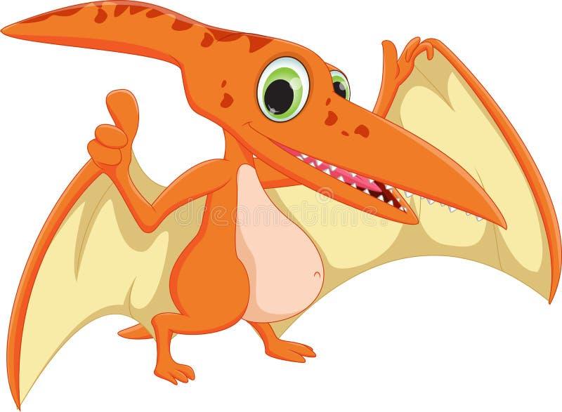 Leuk pterodactylusbeeldverhaal vector illustratie