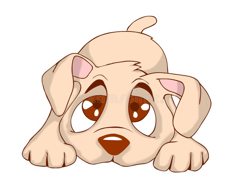 Leuk puppy vector illustratie