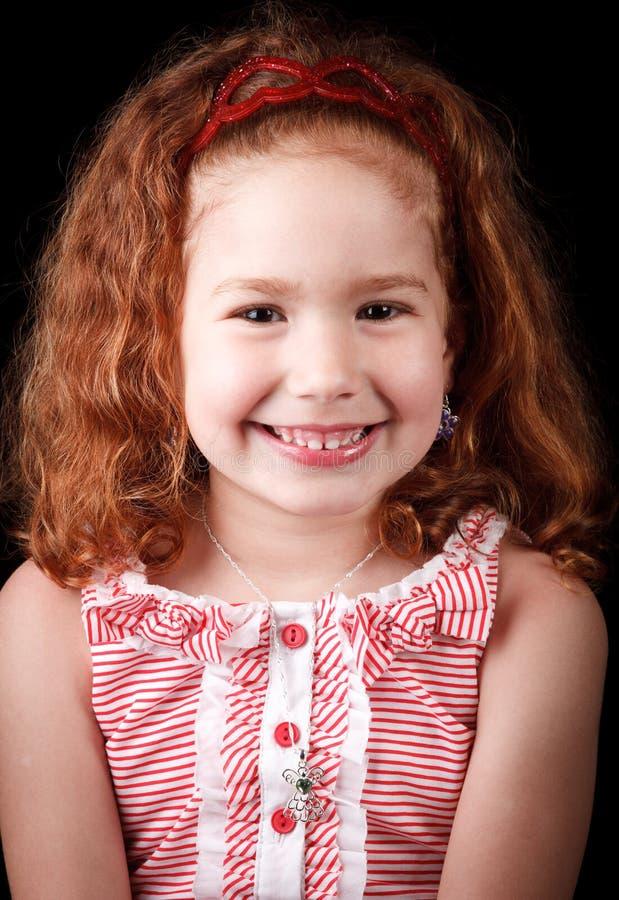 Leuk redhead meisje royalty-vrije stock fotografie