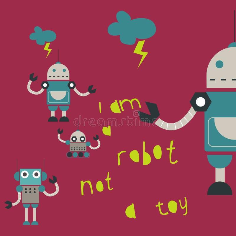 Leuk robotsontwerp royalty-vrije illustratie