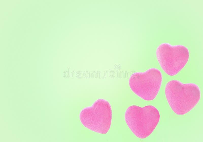 Leuk Roze Valentine Hearts stock foto's