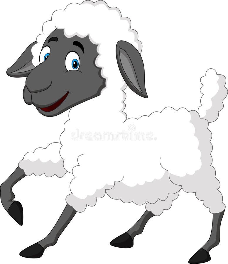 Leuk schapenbeeldverhaal stock illustratie