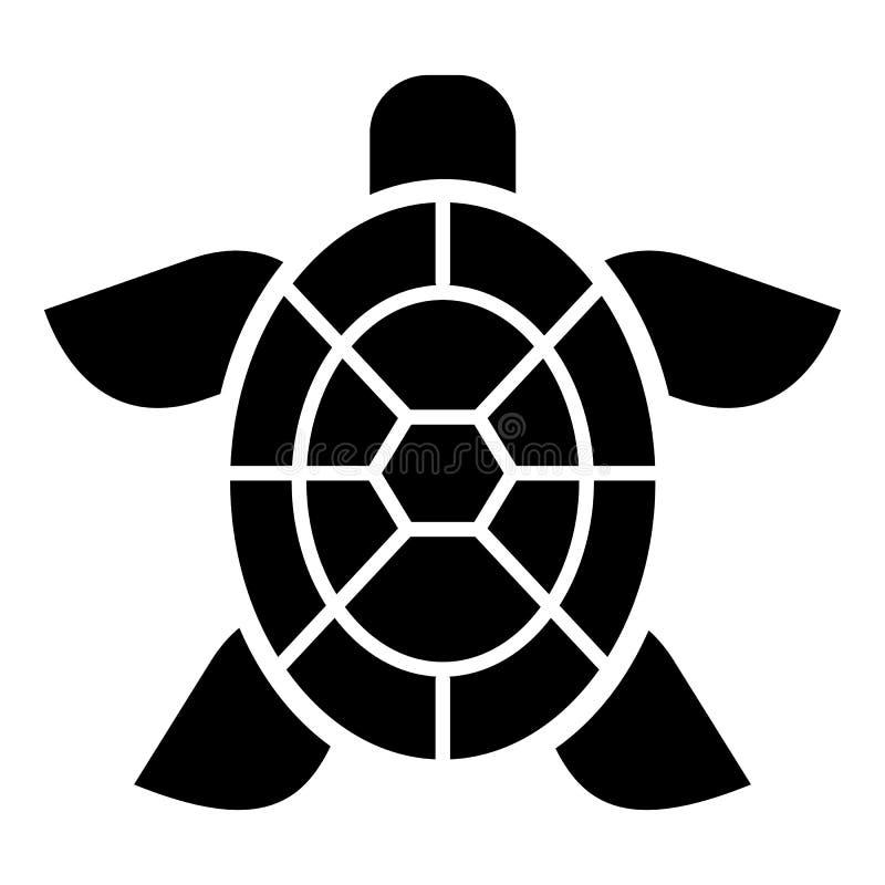 Leuk schildpadpictogram, eenvoudige stijl stock illustratie