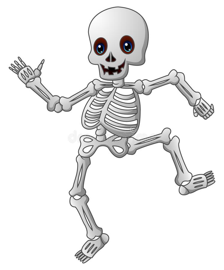 Leuk skeletbeeldverhaal stock illustratie