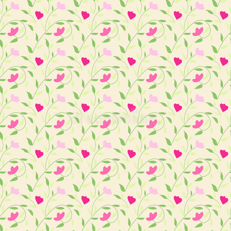 Leuk stijl naadloos bloemenpatroon als achtergrond stock illustratie