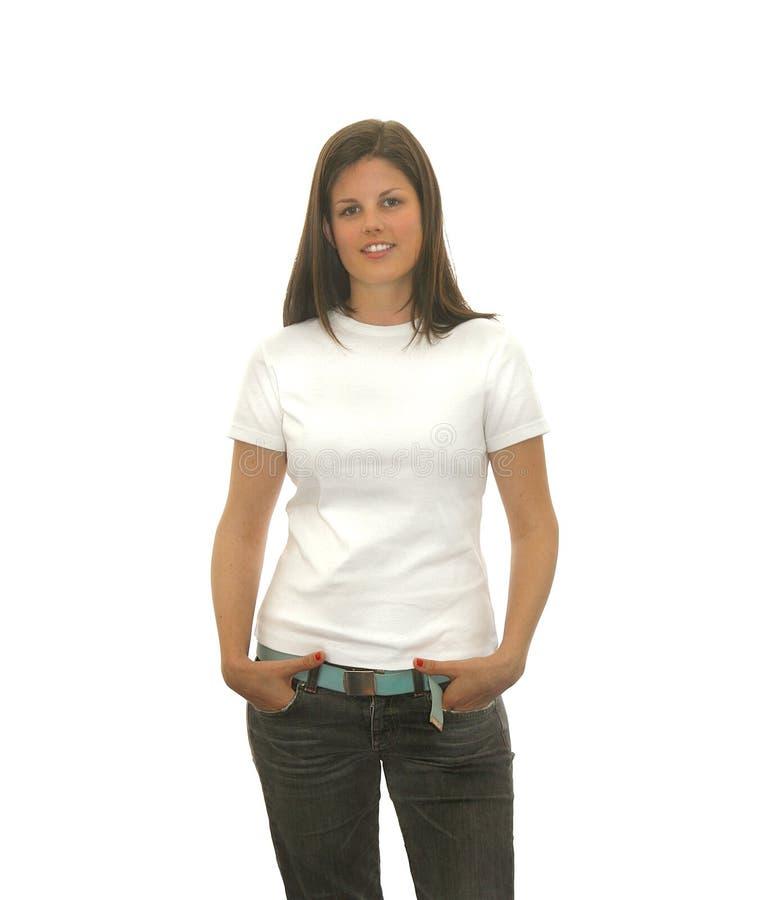 Leuk t-shirtmeisje stock afbeelding