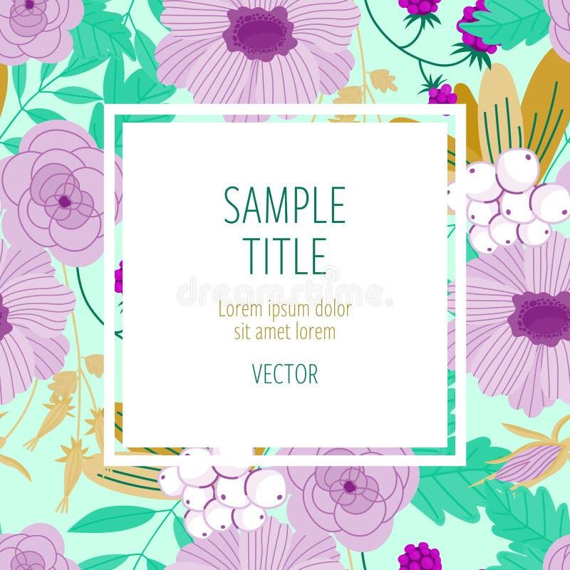Leuk uitnodigingsmalplaatje met bloemdecoratie vector illustratie
