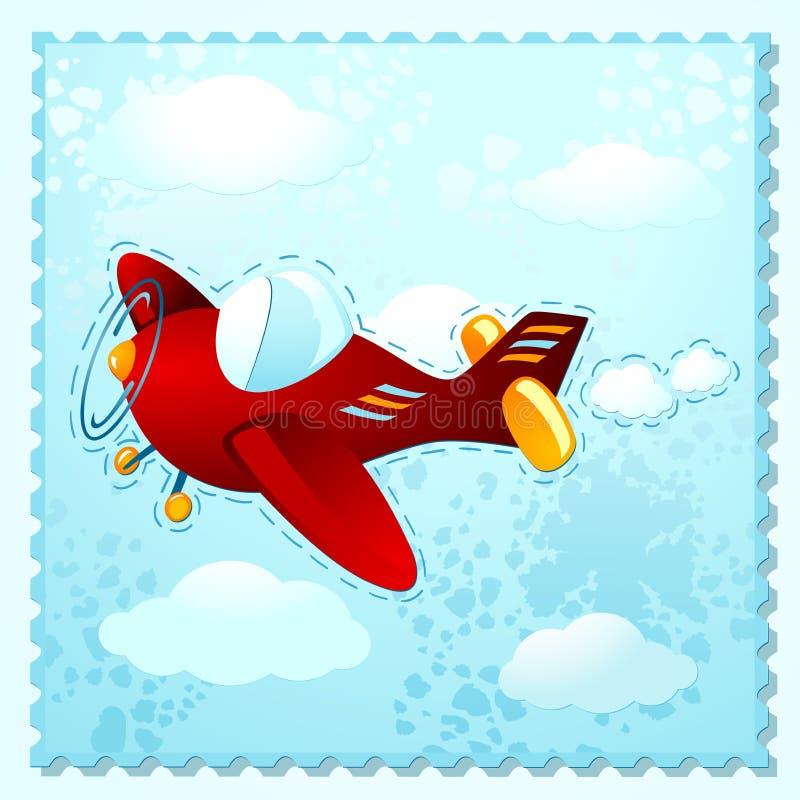 Leuk vliegtuig stock illustratie