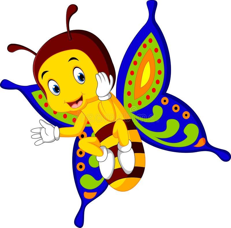 Leuk vlinderbeeldverhaal stock illustratie