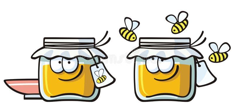 Leuk voedsel - jam stock illustratie