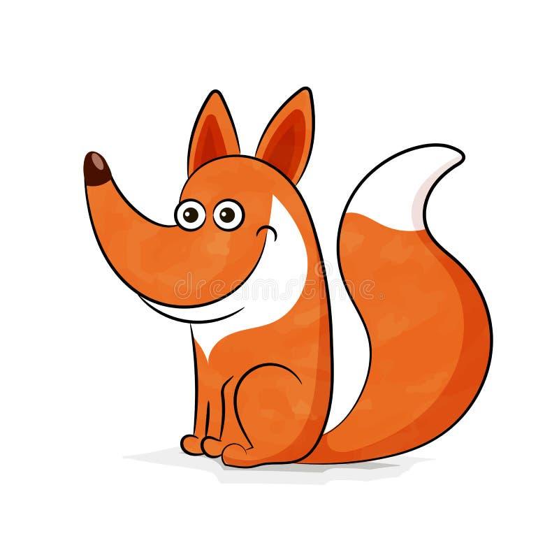 Leuk vosbeeldverhaal royalty-vrije illustratie