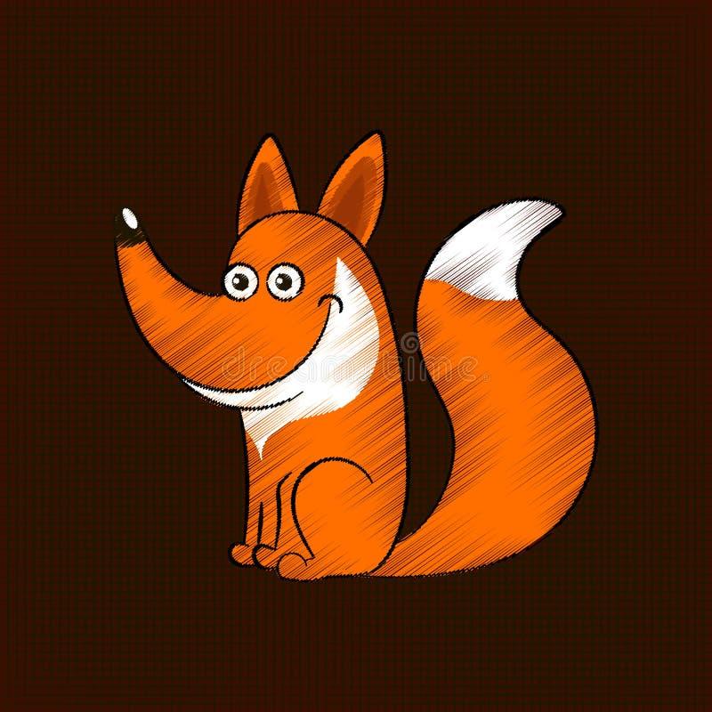 Leuk vosbeeldverhaal vector illustratie