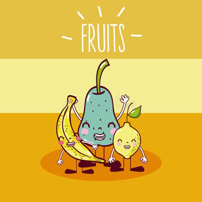 Leuk vruchten beeldverhaal vector illustratie